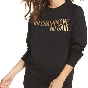 Brunette The Label No Champagne Sweatshirt M/L